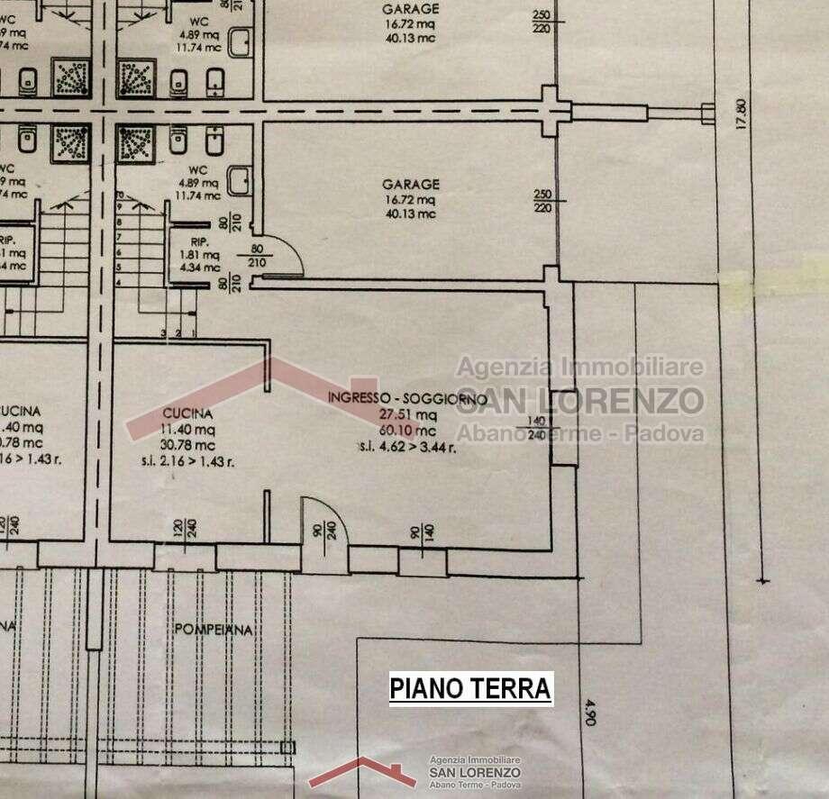 Porzione di quadrifamiliare a croce a montegrotto terme - Immobiliare san lorenzo ...