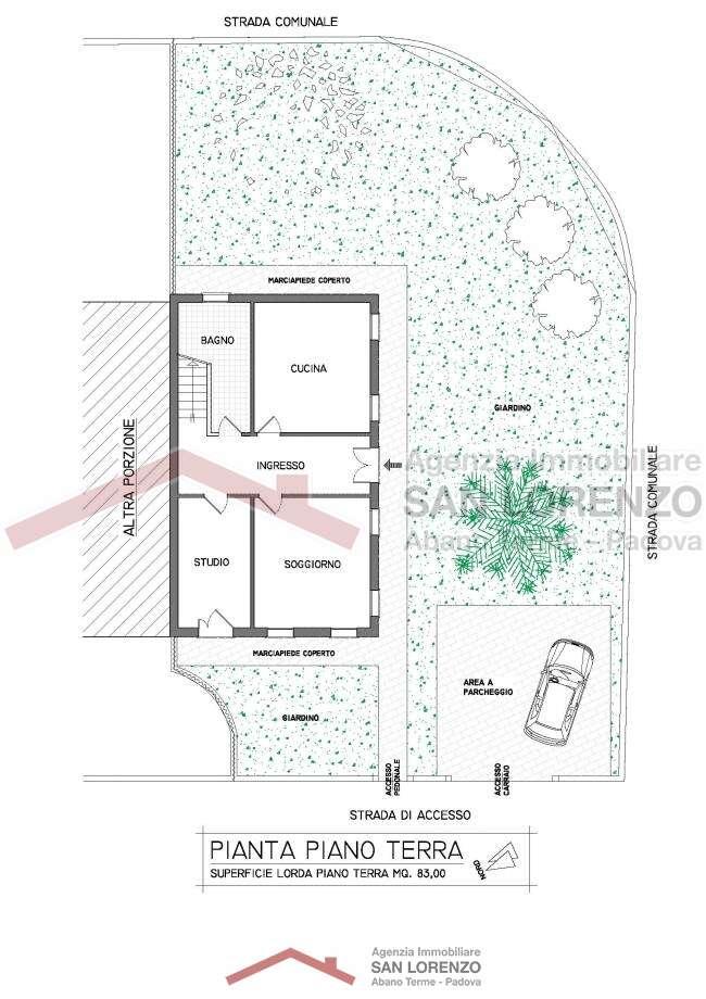 Porzione di bifamiliare personalizzabile ad abano terme - Immobiliare san lorenzo ...